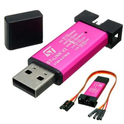 Mini ST-Link V2 stlink Emulator Downloader STM8 STM32 With Metal Shell