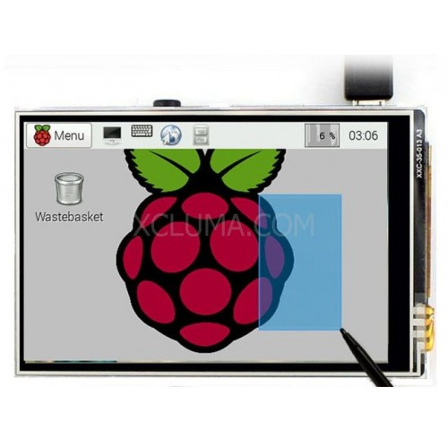 "3.5"" LCD TFT Touch Screen Display for Raspberry Pi 2 Model B Board with Stylus"