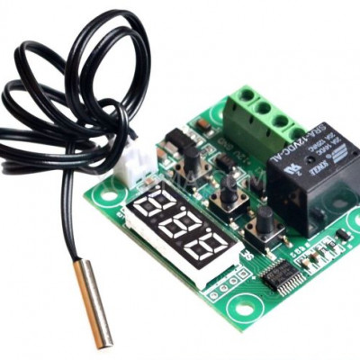W1209 DC12V Digital Cool Heat temp Thermostat Thermometer Temperature Control On/Off Switch -50-110C Temperature Control Switch